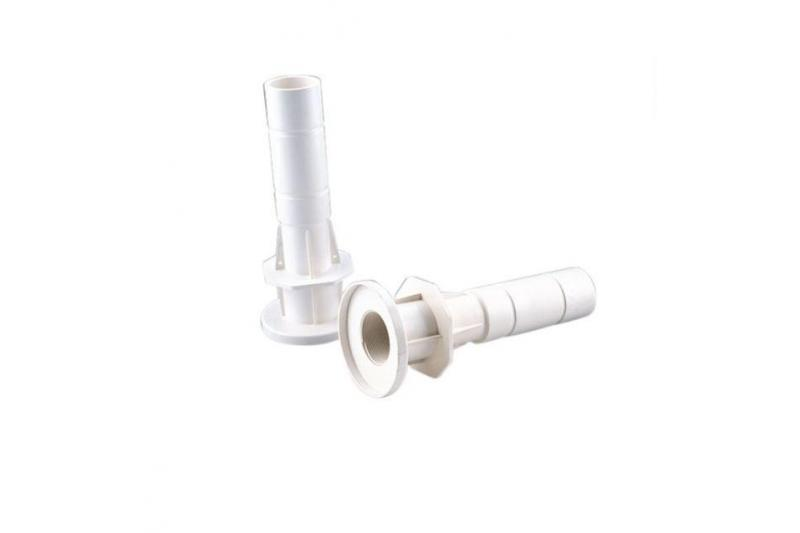 Passanti a muro con attacco posteriore 2 filetto maschio e interno liscio diametro 50 mm