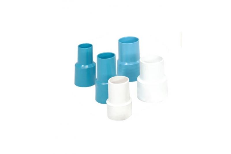 Terminali per tubi in pvc flessibile colore azzurro c. 38mm