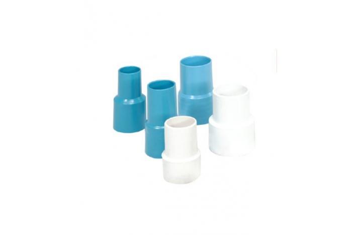 Terminali per tubi in pvc flessibile colore azzurro c. 50mm