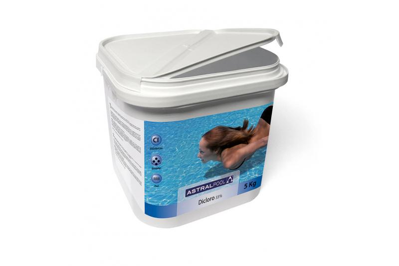Dicloro granulare solubile 56% per trattamento acqua piscina - fusto 1 kg