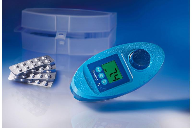 Tester per piscina scuba 2 misuratore parametri cloro libero cloro totale ph acido - Misuratore ph piscina ...