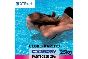 Pastiglie di cloro rapido 25 kg
