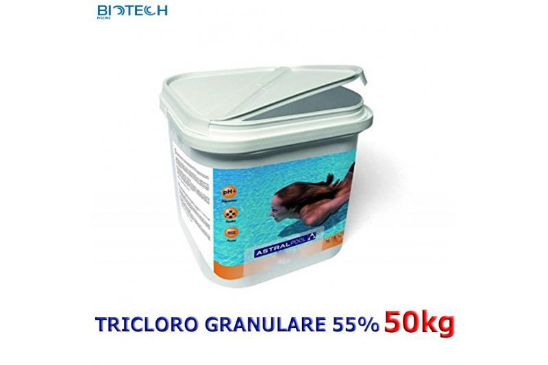 Tricloro 90% granulare altamente solubile per piscine