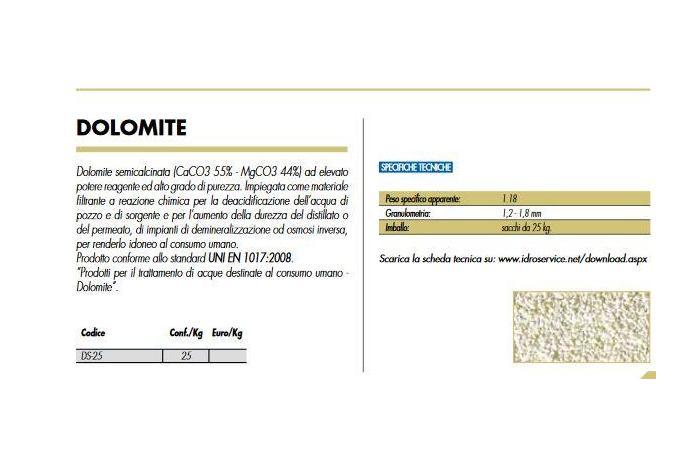 DOLOMITE 25 KG