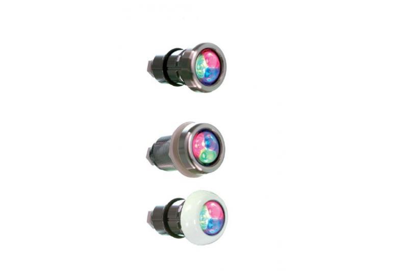 Lumiplus micro a luce bianca per SPA e piscine con flangia inox